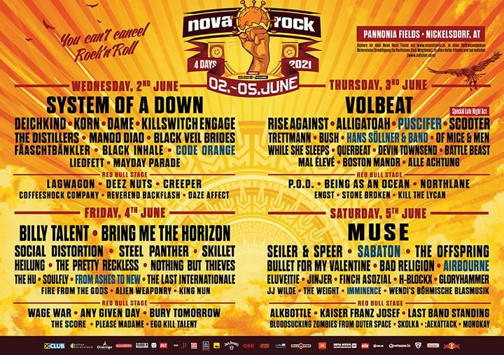 Festivals 2021 Rock