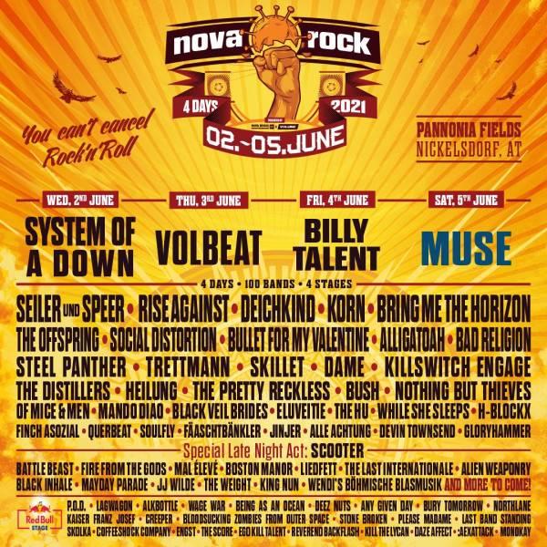 Nova Rock 2021 line-up